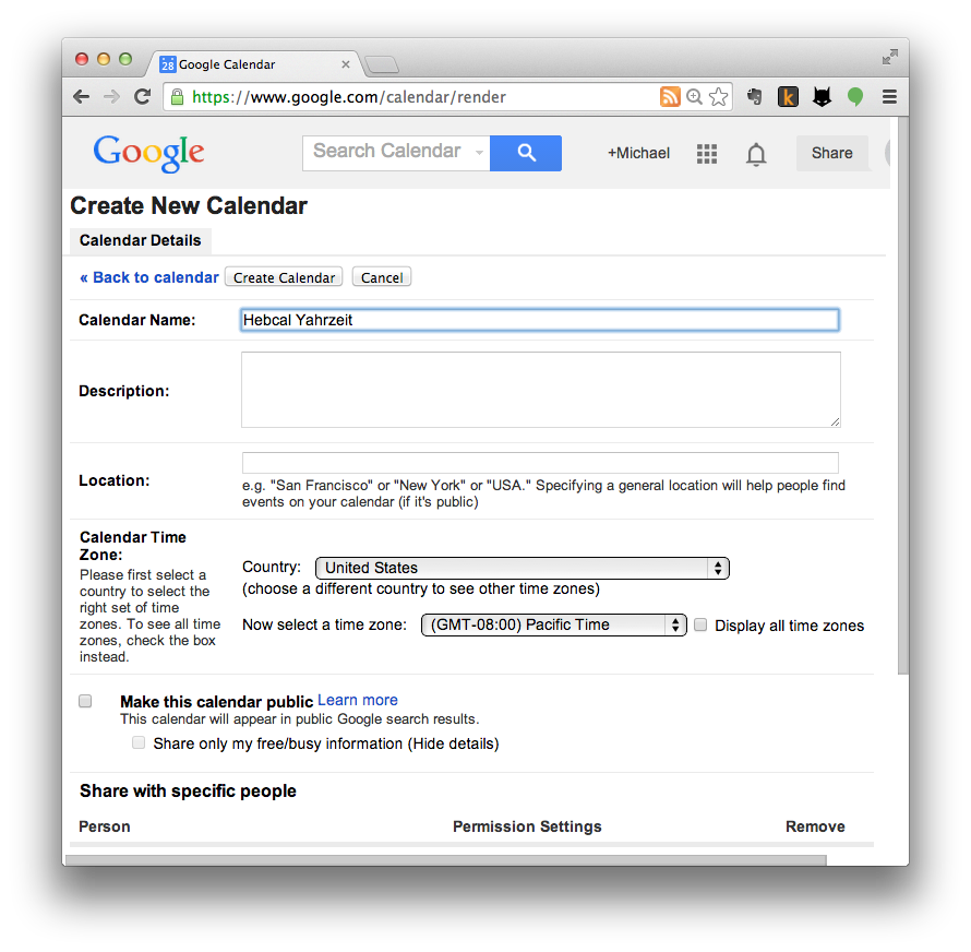 Google Calendar import step 2