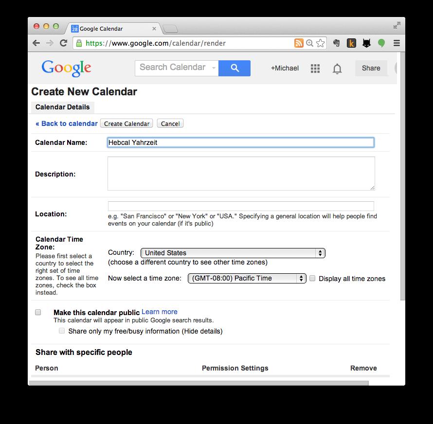 Google Calendar import step 2