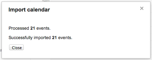 Google Calendar import step 5