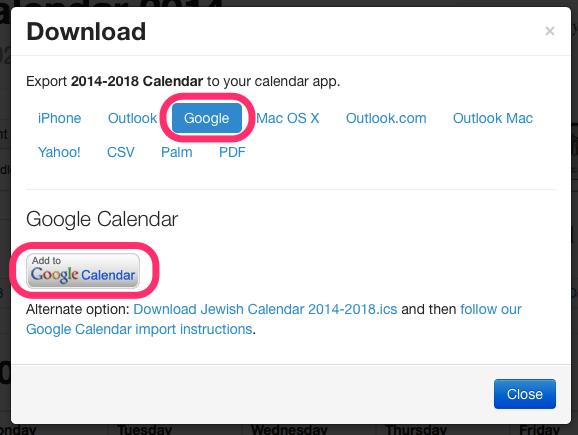 Google Jewish_Calendar download dialog