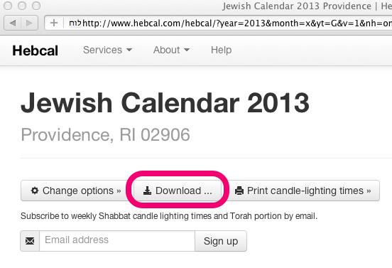 Hebcal custom calendar download highlighted  sc 1 st  Hebcal & Help | Hebcal | Jewish Calendar | Page 13 azcodes.com