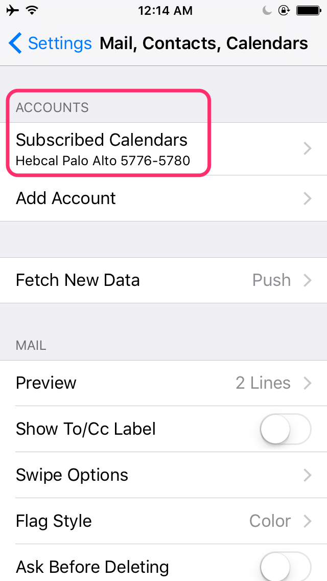 hebcal-iphone-calendars-subscribed-2