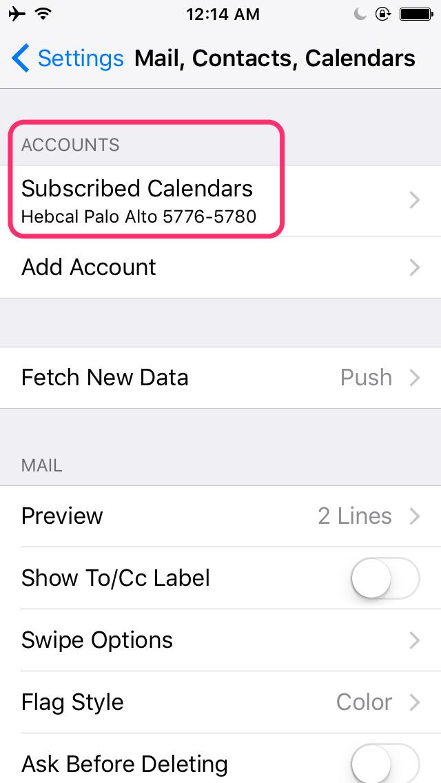 Download – iPhone, iPad, iOS – Hebcal